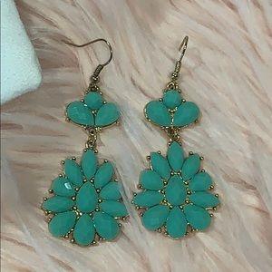 Jewelry - NWT - Turquoise/Gold Dangle Earrings